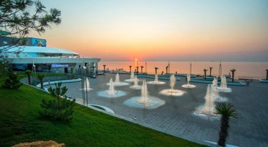 Nemo resort hotel with dolphins and langeron beach odessa
