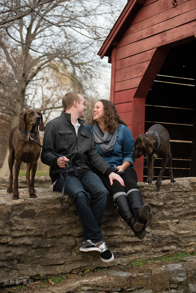 Baker Park Engagement Photos Frederick Maryland Photographer Britany And Chris