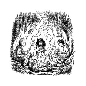 Adventure Island - Campfire
