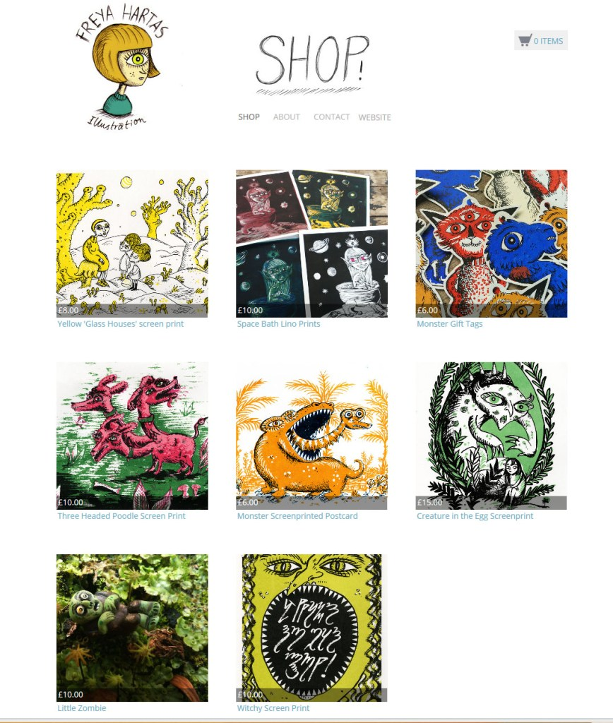 Freya Hartas Illustrator Shop