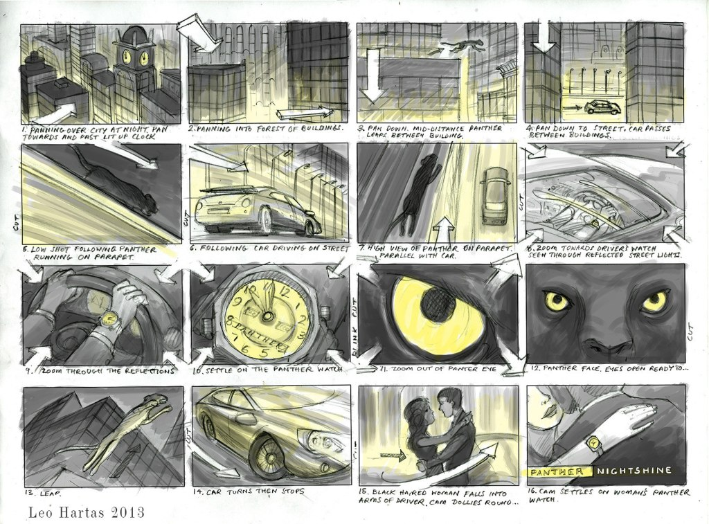 Leo Hartas -Storyboard  -Panther