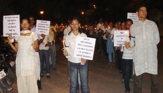 Silent Candle Protest March !