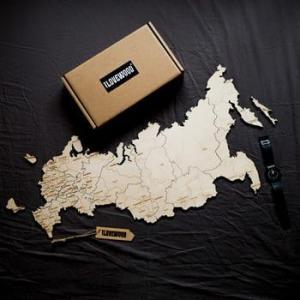 Современная карта России - новый деревянный пазл