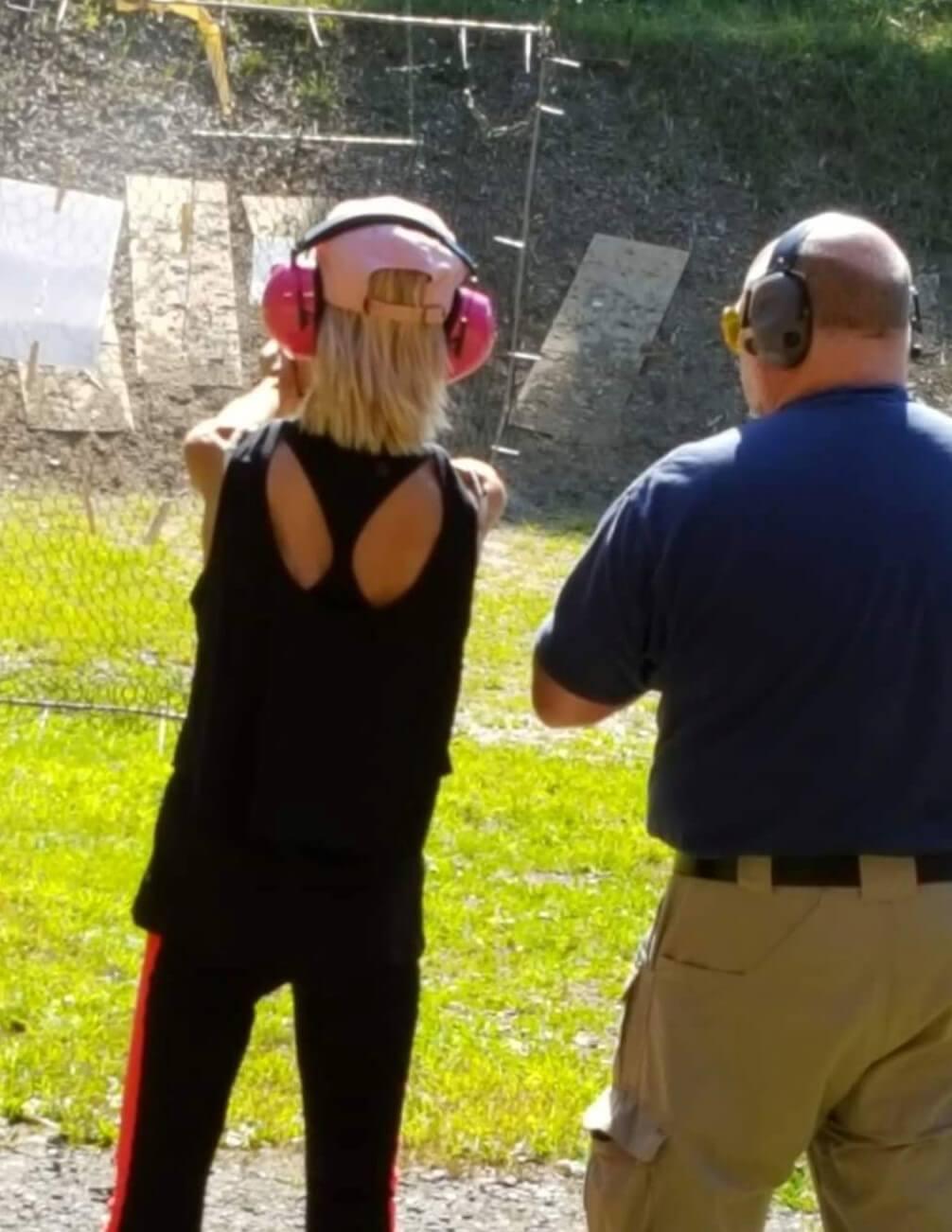 Leominster Firearms Training Outdoor Range Female Student
