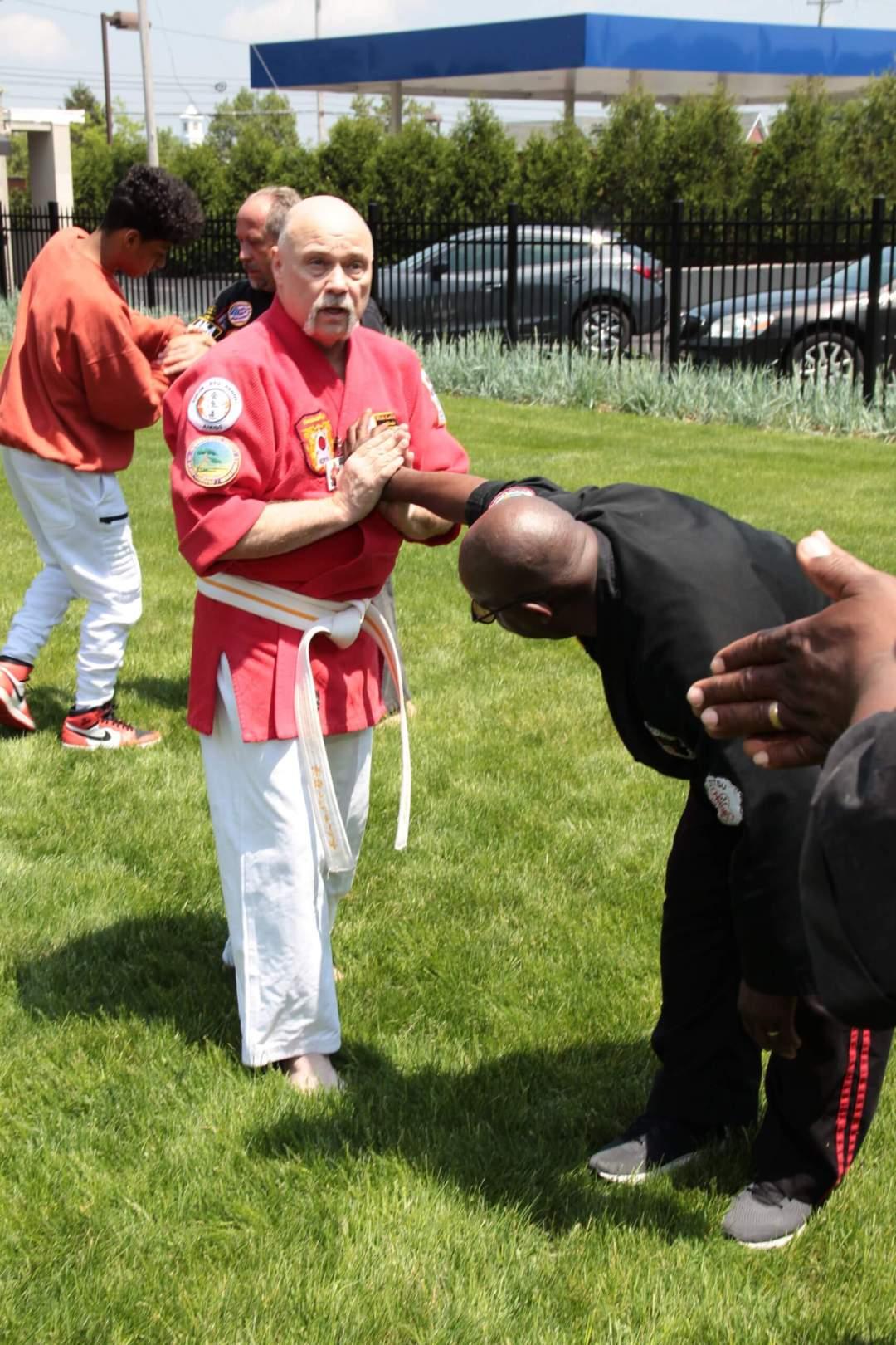 Soke Rick LeClair Demonstrating Martial Arts Technique