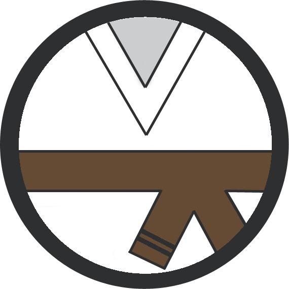 Leominster Martial Arts Brown Belt 2 Black stripe icon