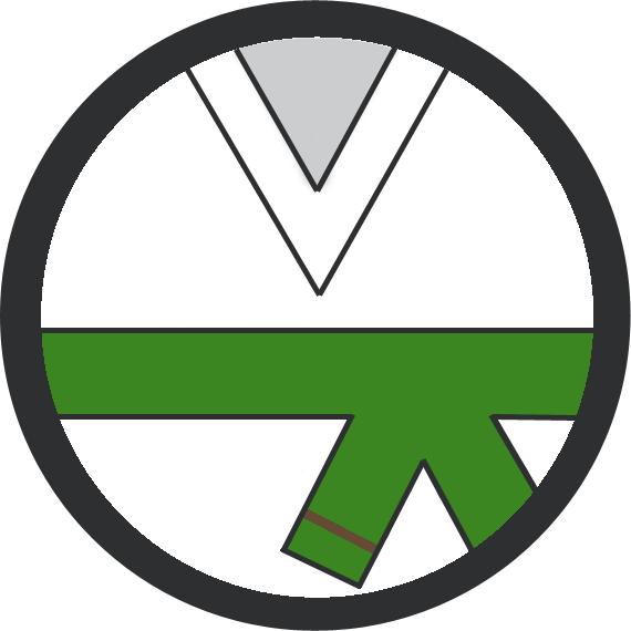 Leominster Martial Arts Green Belt 1 Brown stripe icon
