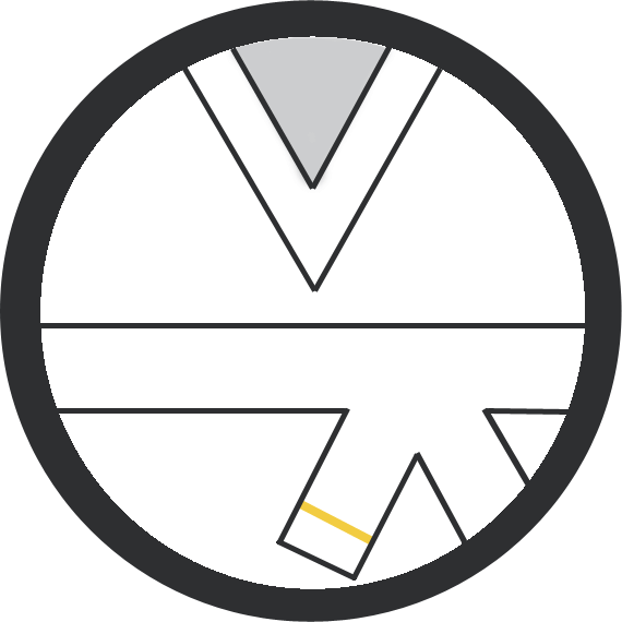 Leominster Martial Arts White Belt 1 yellow stripe icon