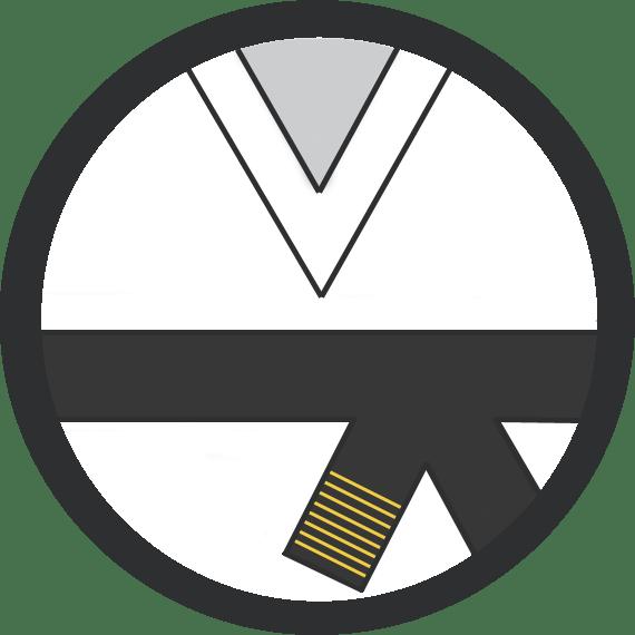 Leominster Martial Arts_Rank_Black Belt 8 Yellow Stripes
