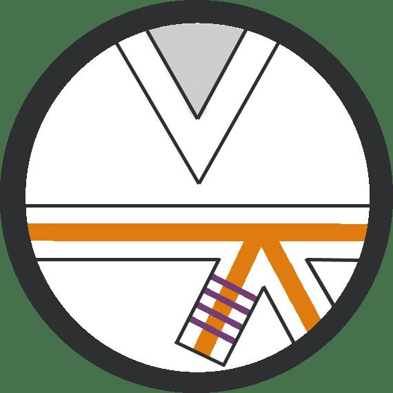 Leominster Martial Arts_Rank_Orange Middle 4 Purple Stripes