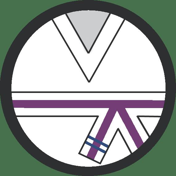 Leominster Martial Arts_Rank_Purple Middle 2 Blue Stripes