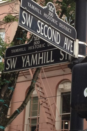 Second and Yamhill--downtown Portland, OR>