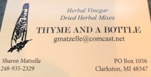 Thyme & A Bottle