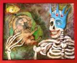 The Alpha and the Omega, 2013, acrylic, mixed media on canvas