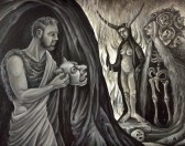 """The Temptation of St. Anthony of the Desert, II, 2014, oil on canvas, 16 by 20"""""""
