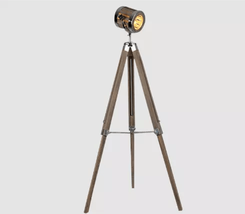 Leonard & Hazel™ Adjustable Tripod Spotlight Lamp - Tall