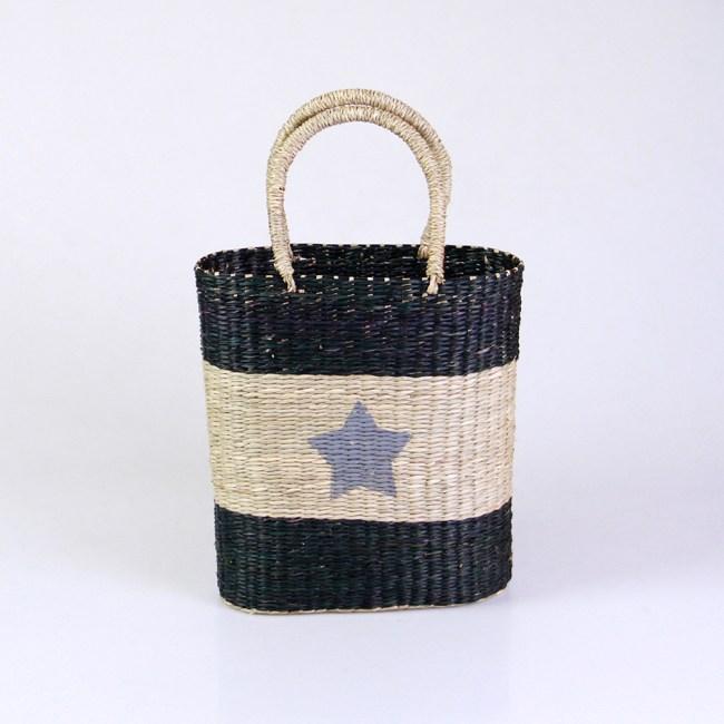 Seagrass Handbag with Blue Star