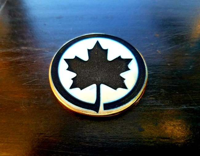 Maple Leaf Engraved Coin