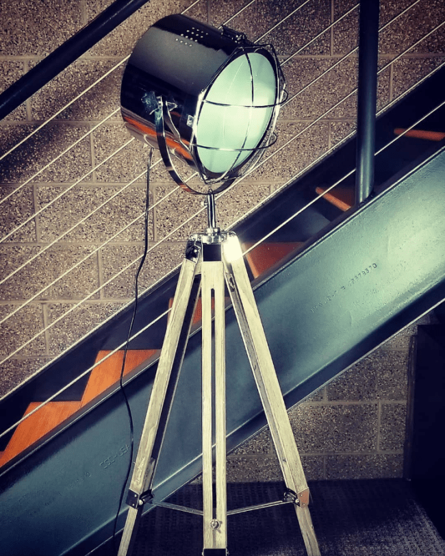 nordic adjustable tripod chrome searchlight lamp