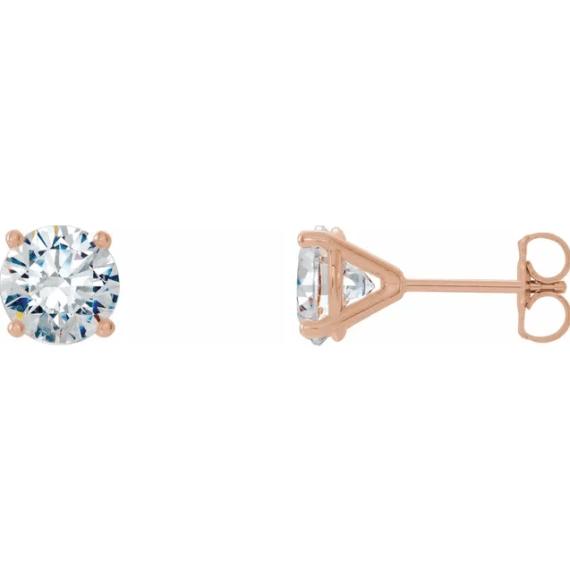 14K Rose 1 CTW Diamond 4-Prong Cocktail-Style Earrings from Leonard & Hazel™