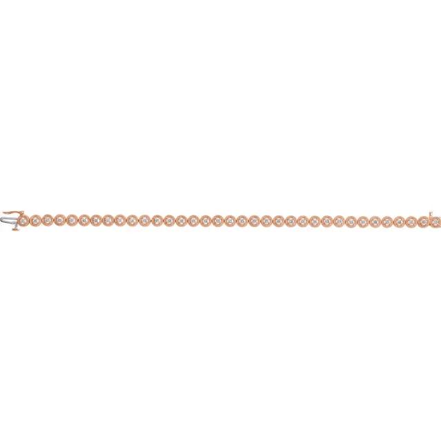 "14K Rose 1 CTW Diamond 7"" Bracelet"