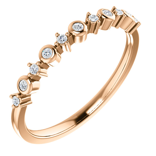 14K Rose Gold 1/10 CTW Diamond Ring from Leonard & Hazel™