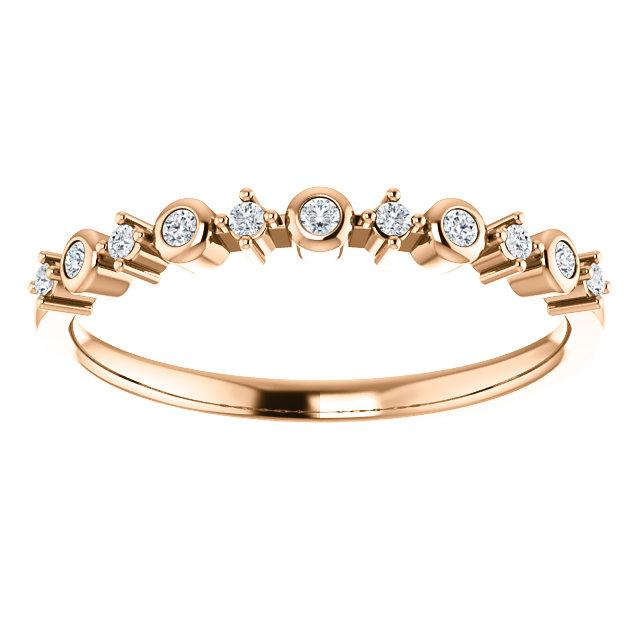 14K Rose Gold 1/10 CTW Diamond Ring from Leonard & Hazel™