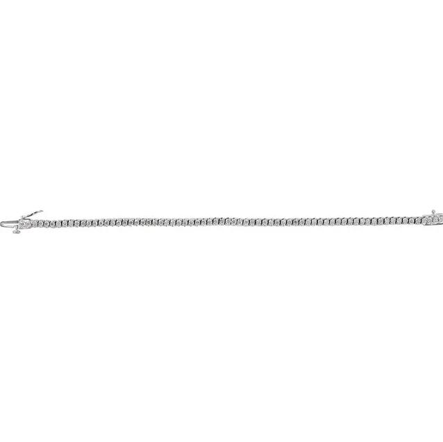 14K White Gold Diamond Line Bracelet