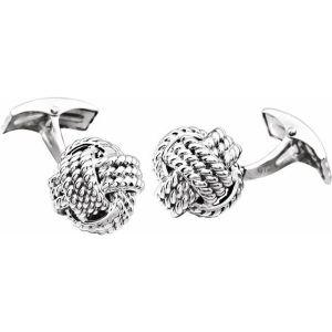 14K White Gold Knot Cuff Links from Leonard & Hazel™