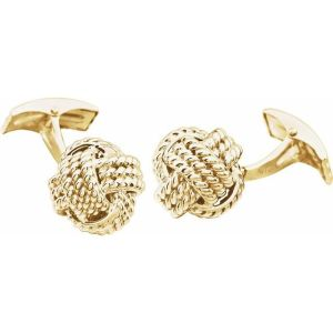 14K Yellow Gold Knot Cuff Links from Leonard & Hazel™