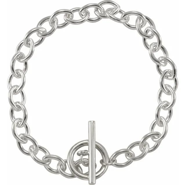 Sterling Silver Toggle 8 Bracelet from Leonard & Hazel™