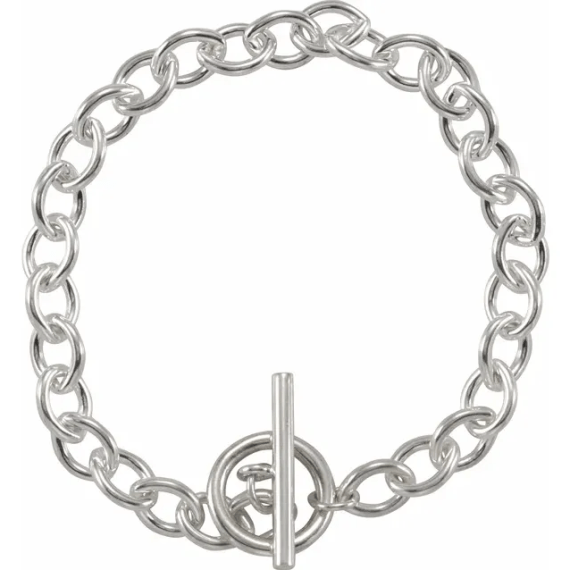Sterling Silver Toggle 8 Bracelet from Leonard & Hazel™