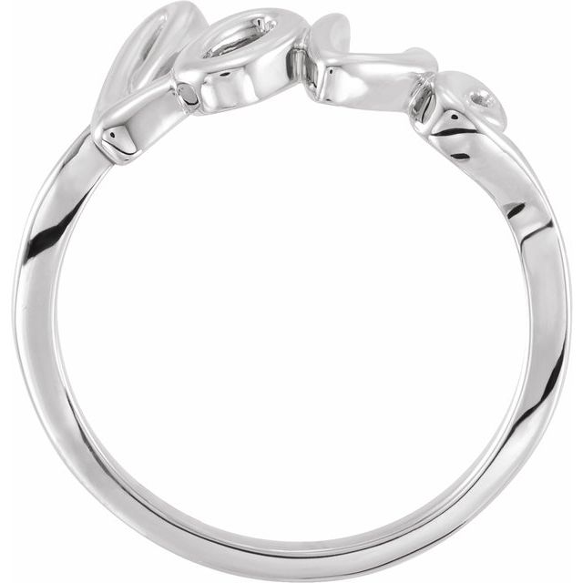 14K White Gold Love Ring from Leonard & Hazel™