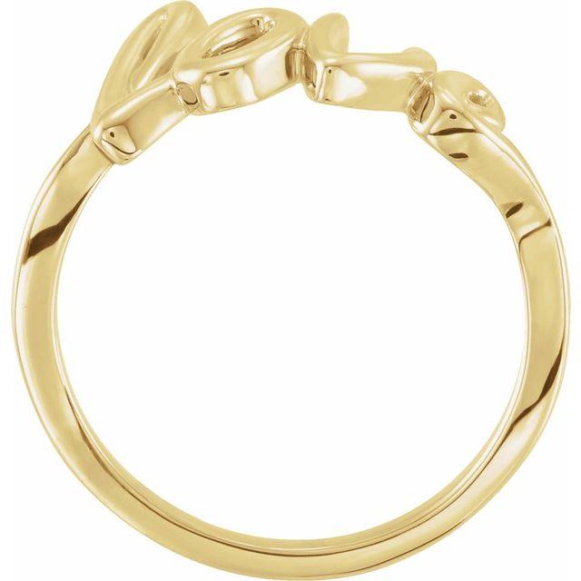 14K Yellow Gold Love Ring from Leonard & Hazel™