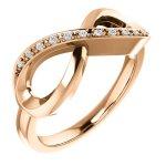 14K Rose Gold .05 CTW Diamond Infinity-Inspired Ring from Leonard & Hazel™