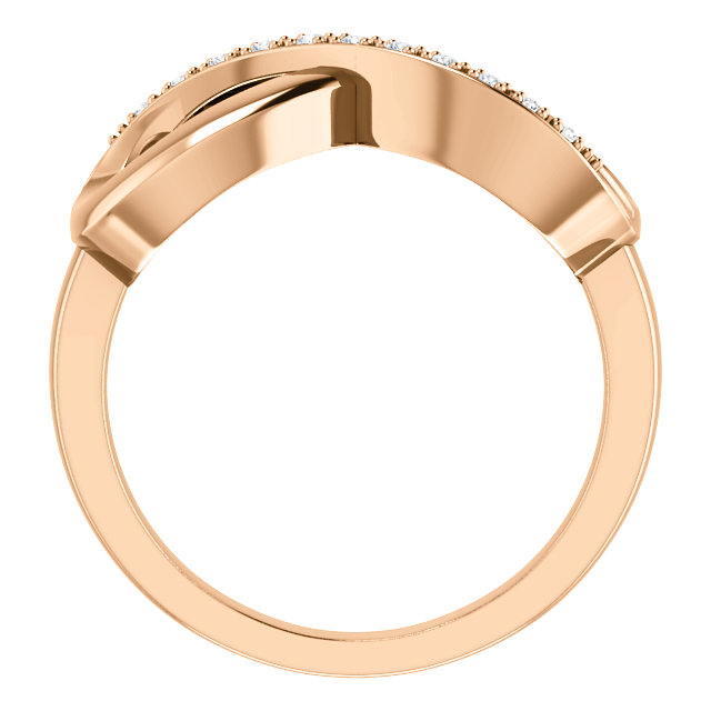 14K Rose Gold .05 CTW Diamond Infinity-Inspired Ring from Leonard & Hazel™