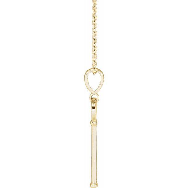 14K Yellow Gold Faith Key 16-18″ Necklace from Leonard & Hazel™