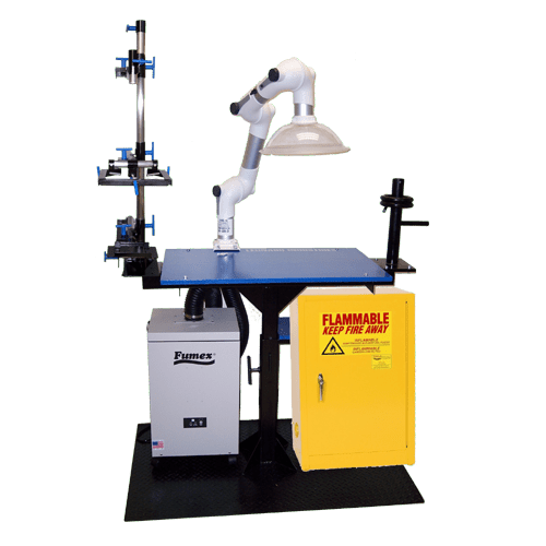 Complete workstation for aligning and lamminating prosthetics