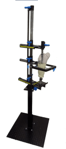 Prosthetic alignment and transfer fixture with stand