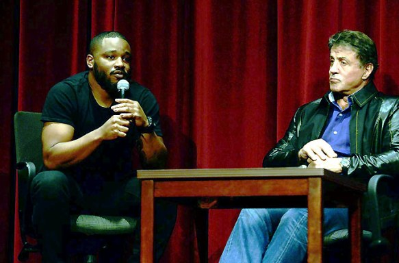 Filmmaker Ryan Coogler and Sylvester Stallone discuss the making of 'Creed' (Photo courtesy of USC)