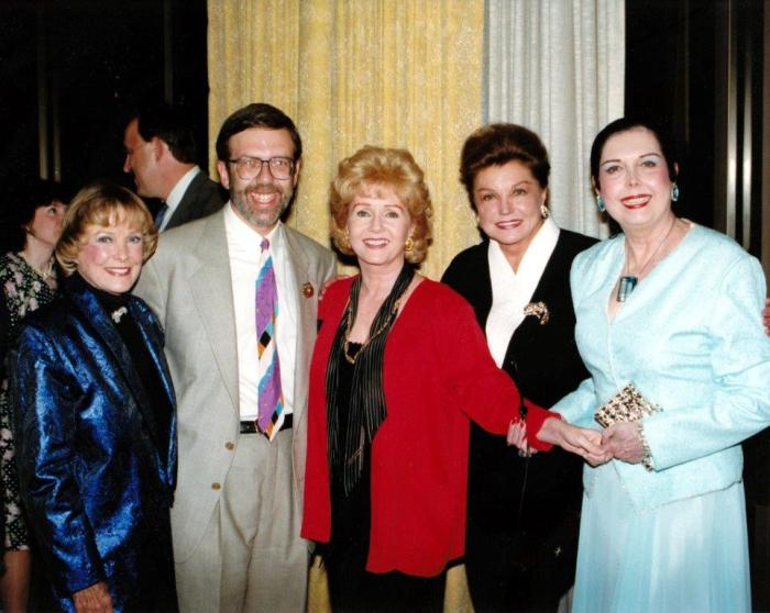 Debbie was the youngest of the MGM musical stars but shared their upbeat outlook--and work ethic. I got to pose with June Allyson, Debbie, Esther Williams, and Ann Miller at a video dealers' convention circa 1990.