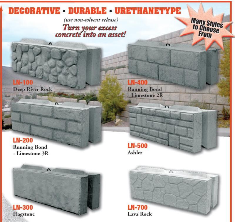 Leonard Marr Inc Block Forms Decorative Liners Wall Landscape Concrete Molds