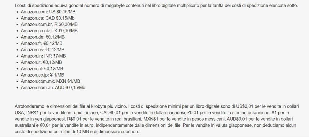 lo screen dal sito di termini e condizioni d'uso sul download di file