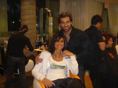Gabriela Sabatini y Leonardo Rocco
