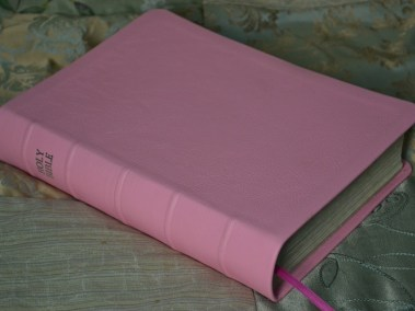 Pink Pebble Grain Cowhide Bible
