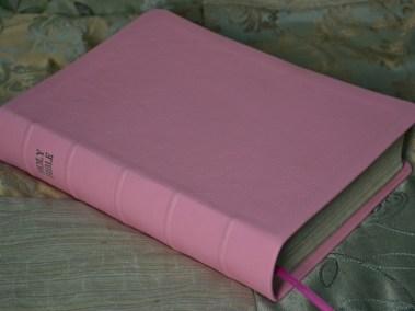 Pink Pebble Grain Cowhide Bible