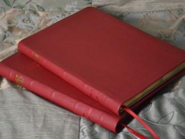 Red Pebble Grain Cowhide Bibles
