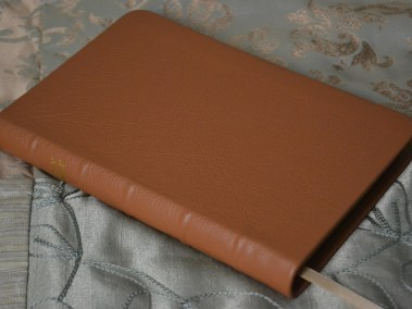 Tan Pebble Grain Cowhide Bible