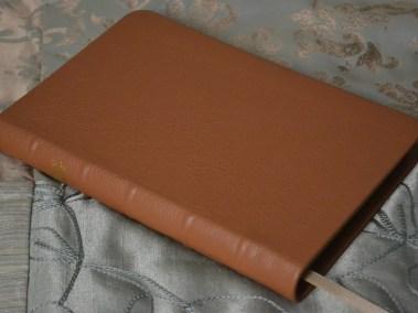 Tan Pebble Grain Cowhide Bible