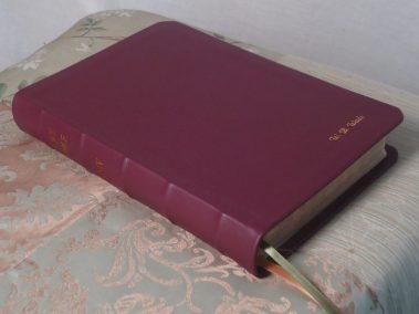 Deep Red Soft-Tanned Goatskin Bible